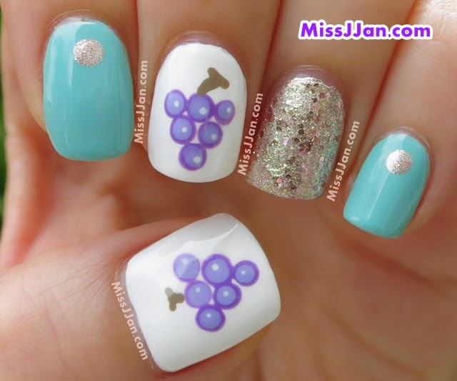 MissJJan's Beauty Blog ♥: {Tutorial} EASY Grapes Nail Art