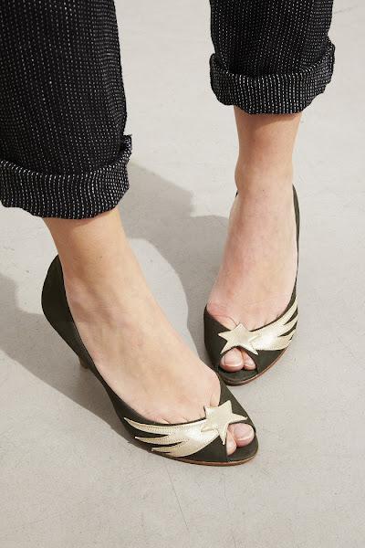 Escarpins Patricia Blanchet Bandini kaki