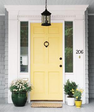 Yellow front door paint ideas