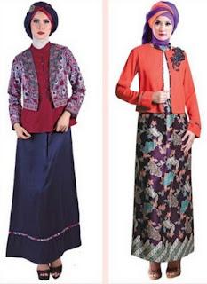 Model baju batik muslim remaja untuk kerja