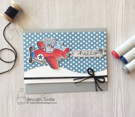 Winston Takes Flight Card by Jennifer Timko featuring Newton's Nook Deisgns