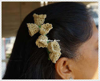 free crochet hair barrette pattern