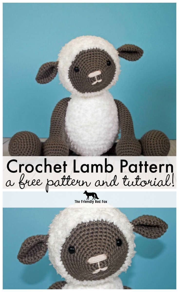 Free Crochet Pattern for Crochet Lamb - thefriendlyredfox.com