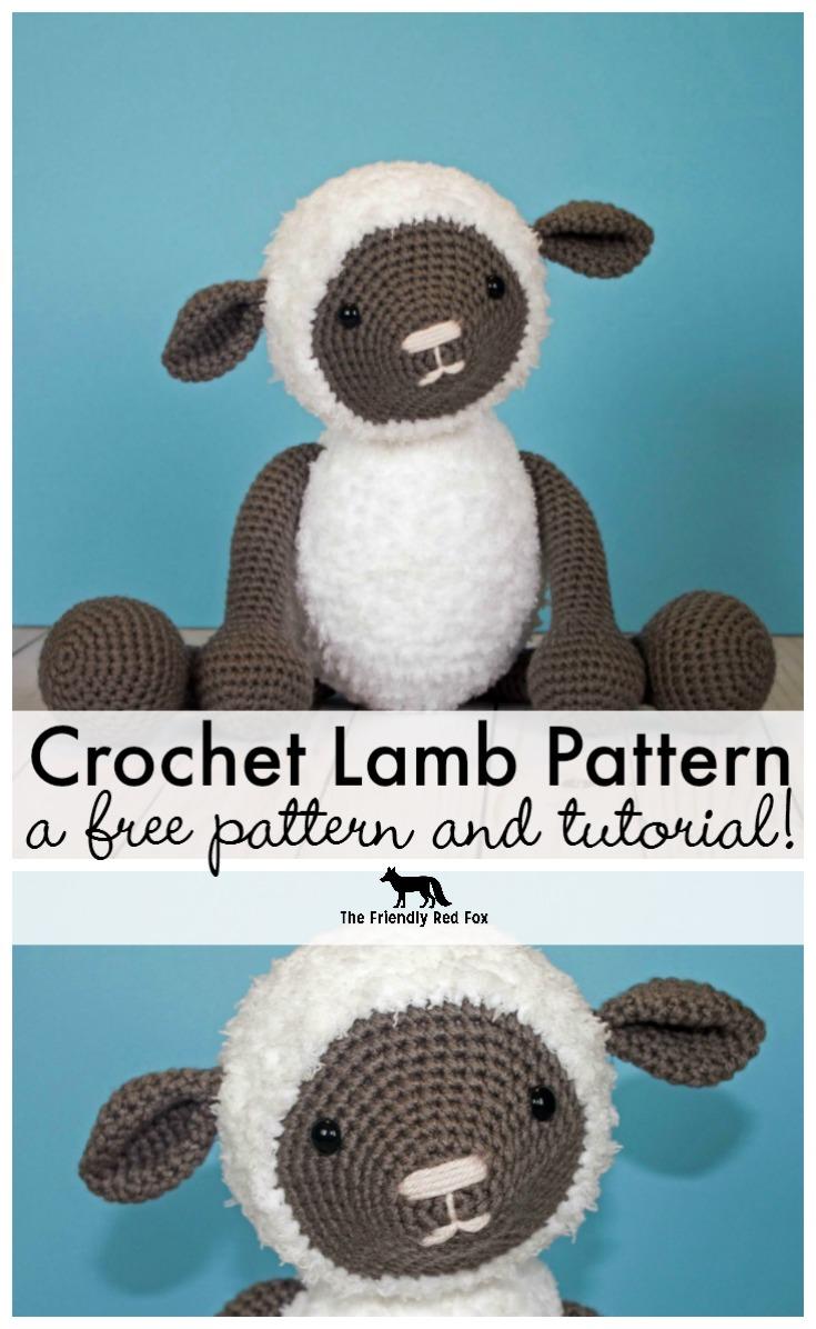 Free Crochet Pattern For Crochet Lamb Thefriendlyredfox Com