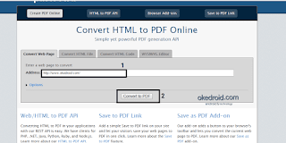 Convert to PDF online