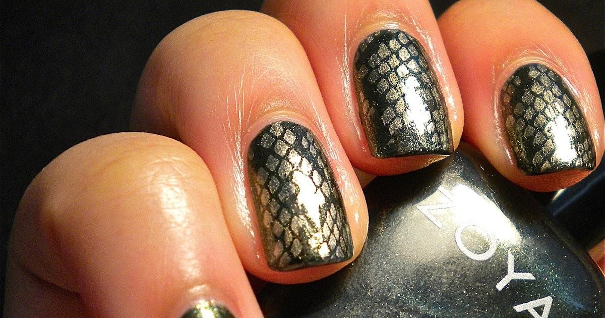Something Polished: Snake Skin Nails