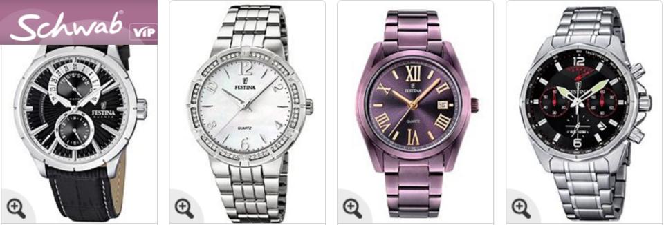 Festina Uhren bei Schwab auf Rechnung kaufen
