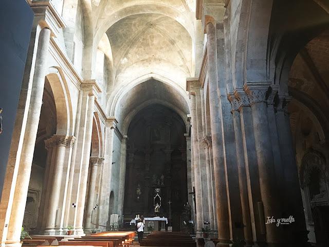 Las naves de la iglesia de San Martín Salamanca
