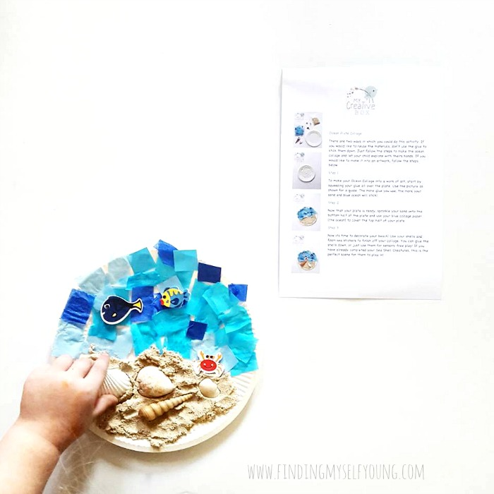 paper plate beach craft idea for toddlers