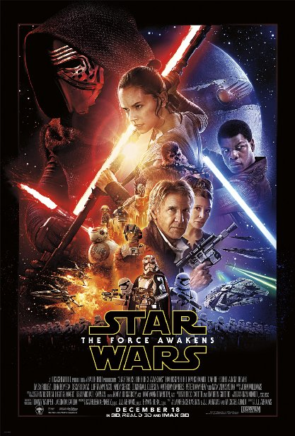Poster Of Star Wars Episode VII The Force Awakens 2015 720p Hindi BRRip Dual Audio