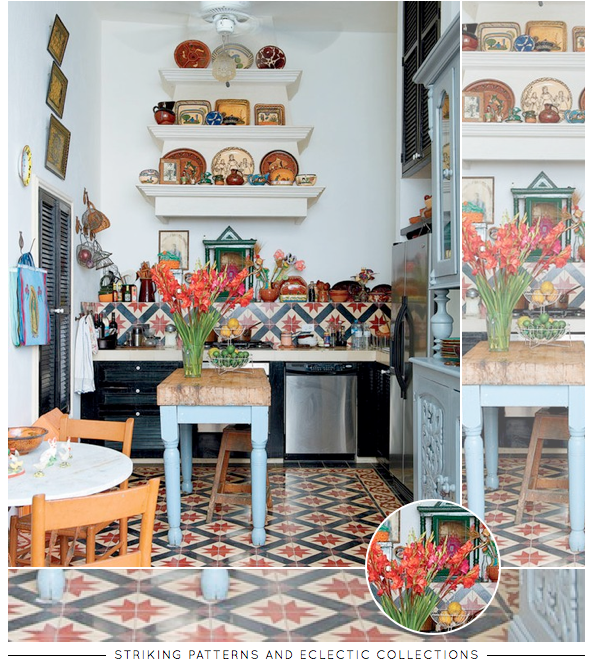 Striking and Eclectic Kitchen - Bright Bazaar by Will Taylor