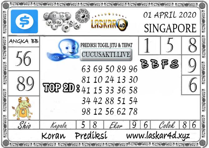 Prediksi Togel SINGAPORE LASKAR4D 01 APRIL 2020