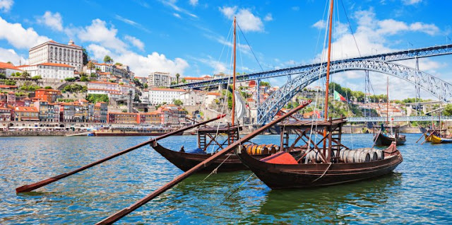 Porto Oporto European Best Destination Portugal Travel Bridge Luis I Ribeira Riverside