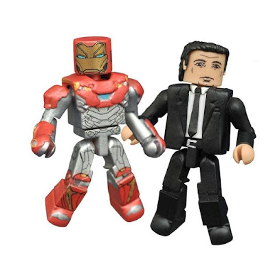 Spider-Man: Homecoming Marvel Minimates Series by Diamond Select Toys – Toys R Us Exclusive Iron Man Mark 46 with Happy Hogan