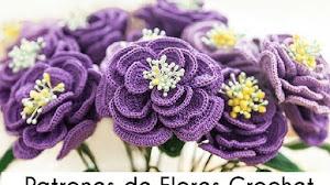 Patrones de flores tejidas a crochet 🍁🍁🍁