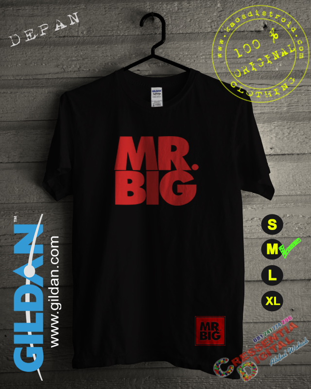 Kaos Mr Big Distro Id Warna Hitam