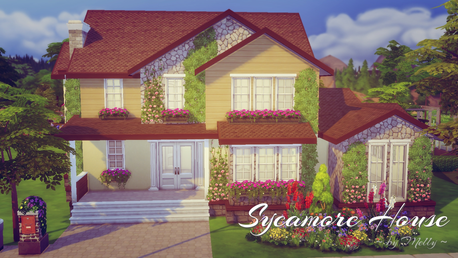 Sims houses by melly h user houses - Sims 4 dach bauen ...