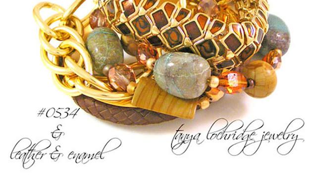 Tanya Lochridge Jewelry Chrysocolla-Rainbow-Hickoryite-Bead-Bracelet