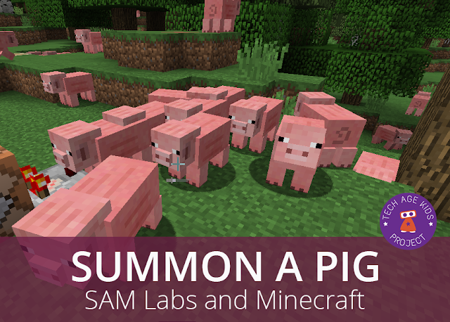 SAM Labs and Minecraft - Summon a Pig at the Push of a Button | Tech
