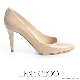 Crown Princess Mary Style JIMMY CHOO Pumps and SIGNE BEGELUND JENSEN Dress