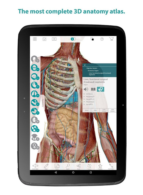 (Android) Atlas Giải phẫu Người 3D