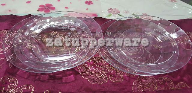 Tupperware  Prism Plates (4)