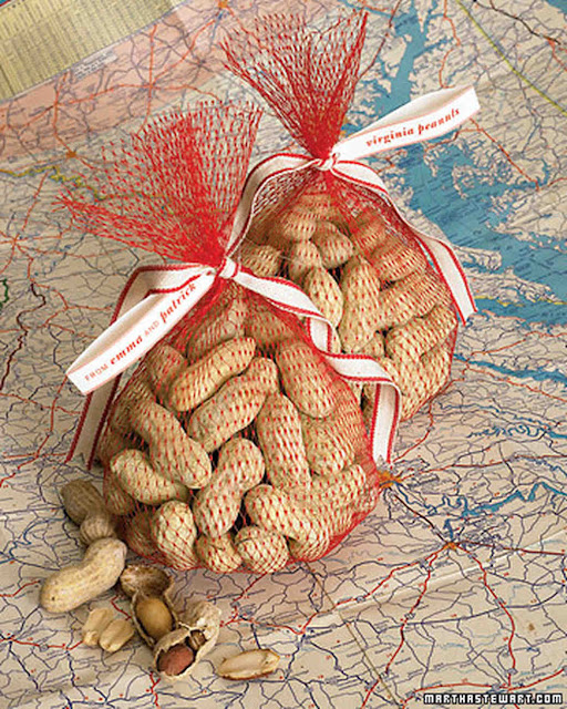 roasted peanut favors from Virginia