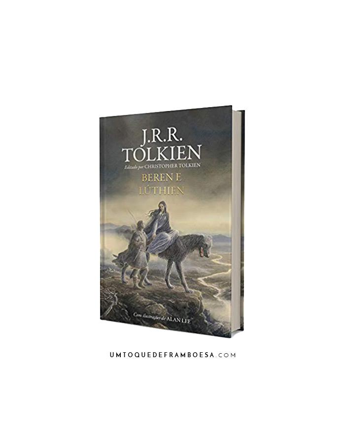 Capa do novo livro de J. R. R. Tolkien, Beren e Lúthien, na edição em português e capa dura