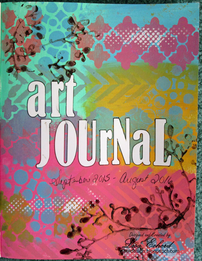 art journal title page