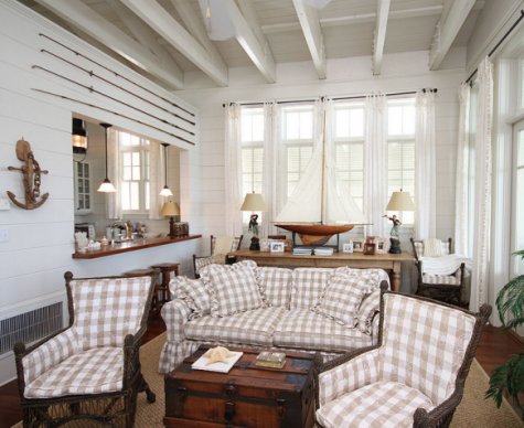 plank walls for rustic cottage look