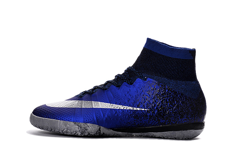 aceb9dec9 Based on the iconic silhouette of the Nike MercurialX Proximo, the newest  Nike Cristiano Ronaldo signature indoor shoes feature a mostly dark royal  blue ...
