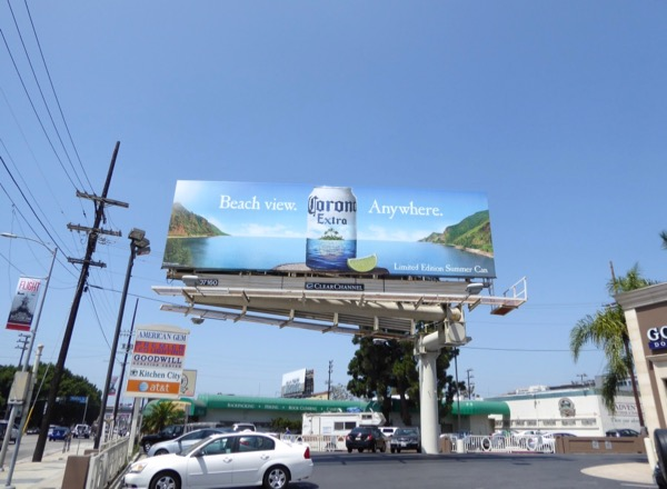 Beach view Anywhere Corona billboard