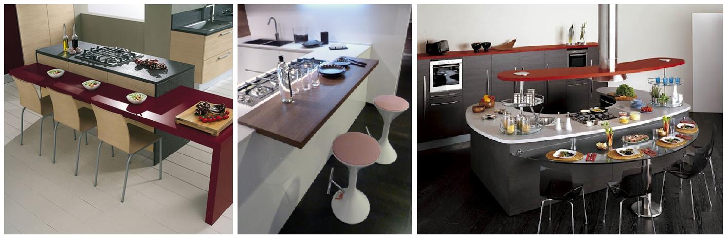 La casa rosso papavero cucina piano snack o tavolo for Piani colazione