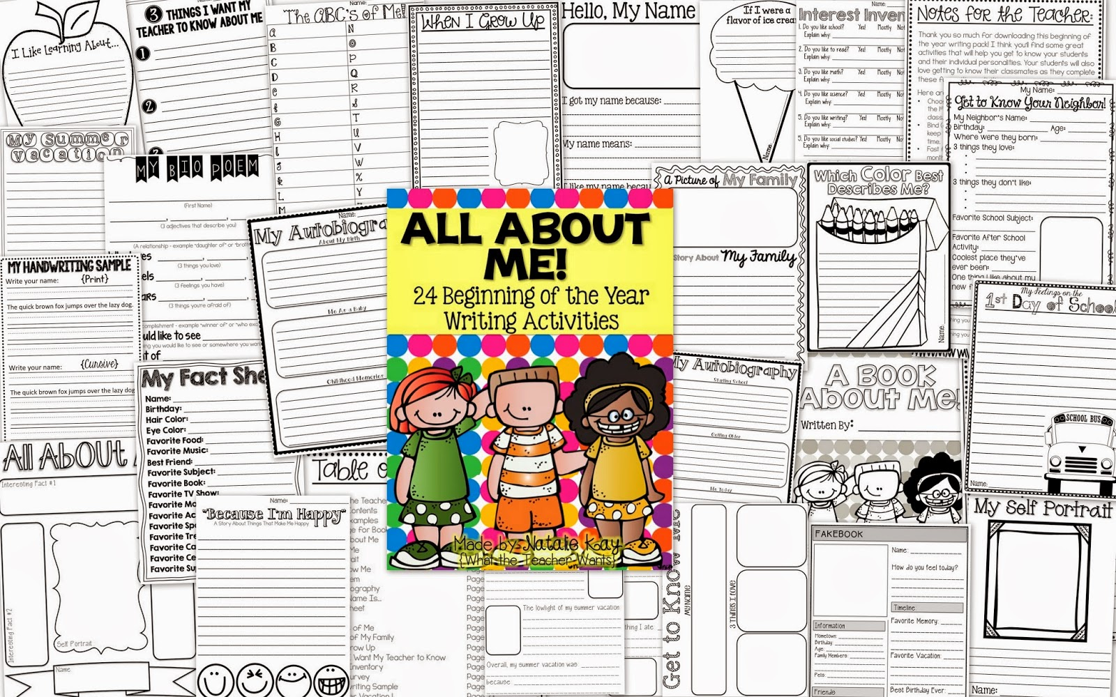 What the Teacher Wants All About Me 24 Beginning of the Year – Get to Know Me Worksheet
