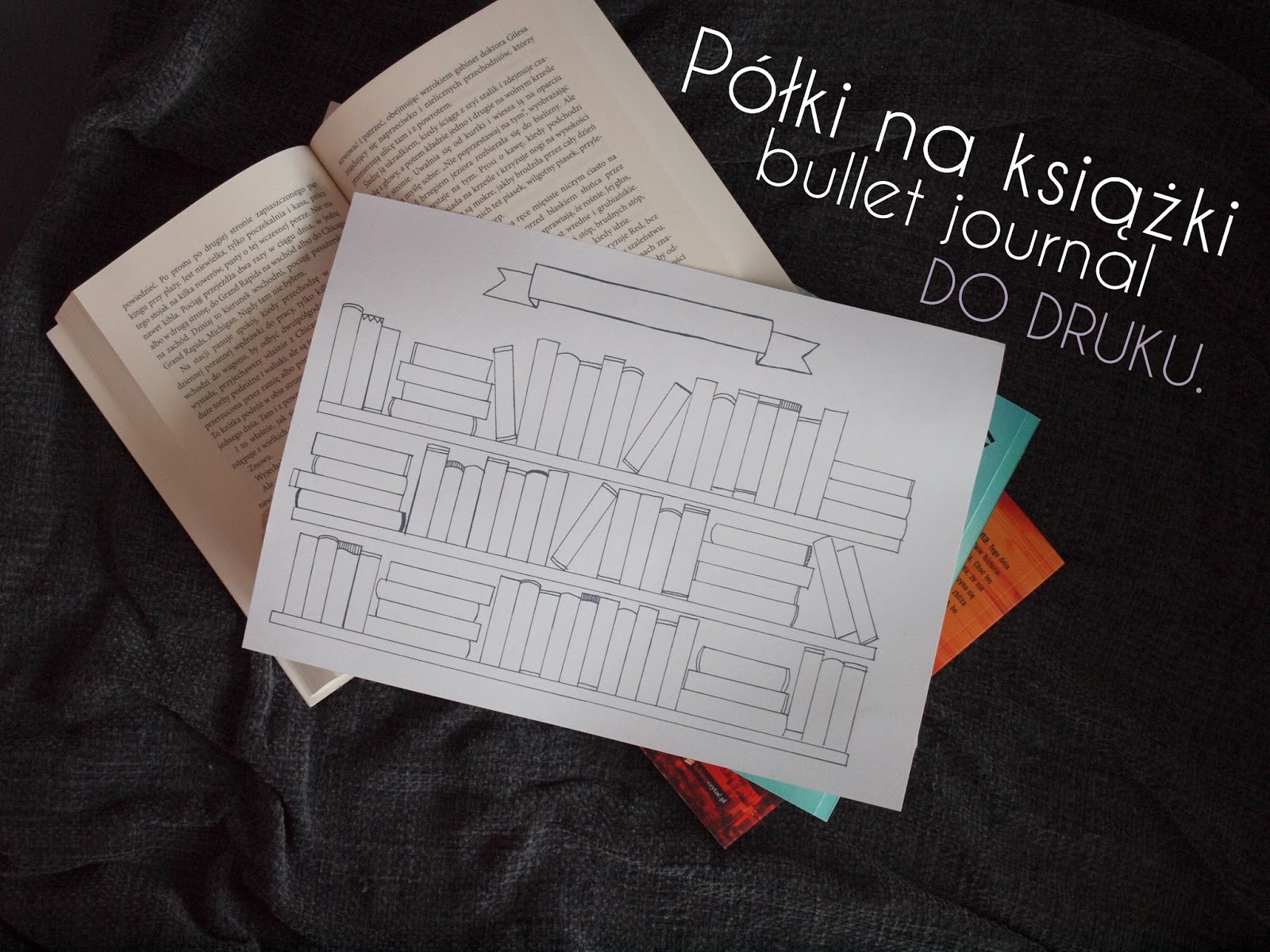 Do druku: Półki na książki / bullet journal.
