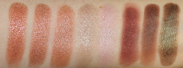 Colourpop Eye Shadow Sequin Weenie LaLa I <3 Heart This Eye Candy Porter Mittens Partridge swatch swatches
