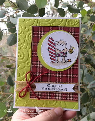 So Santa, Festive Farmhouse DSP, Lemon-Lime Twist, Rhapsody in craft, AWH Colour Creations Blog Hop, Art with Heart, Christmas card, Christmas, DIY Cards