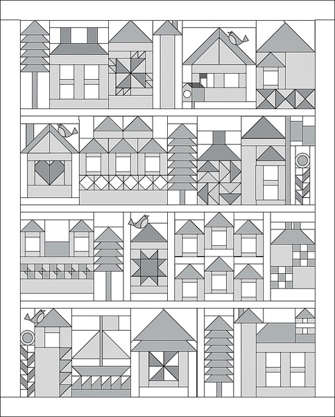 Alamosa quilter be my neighbor for Modern house quilt block