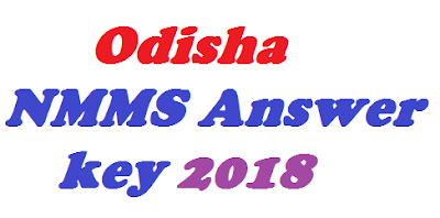 Odisha NMMS Answer key 2018