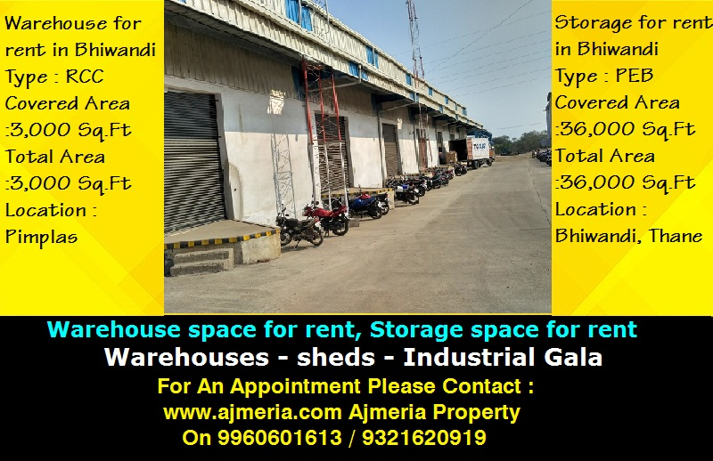 Bhiwandi industrial property for sale warehouse space for rent storage space for rent 36 000 - Small storage spaces for rent model ...