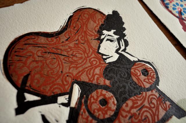 linoleum, linocut, linoprint, printmaking