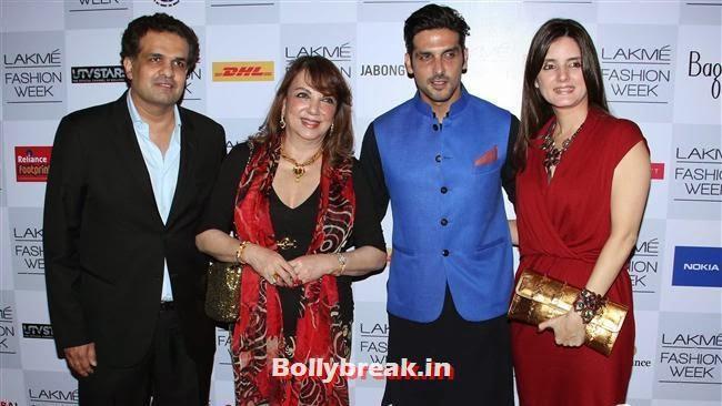 Zarine Khan, Zayed Khan and Simone Khan, Bollywood Actresses at Manish Malhotra Show at LFW Summer Resort 2014