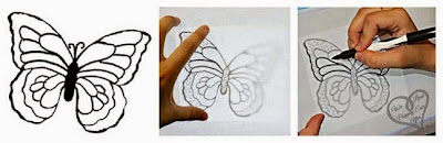 Trazando mariposa.
