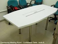 Meja Meeting Dengan Jaringan Koneksi LAN - Interior Ruang Rapat