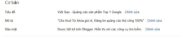Cách tối ưu hóa blogspot