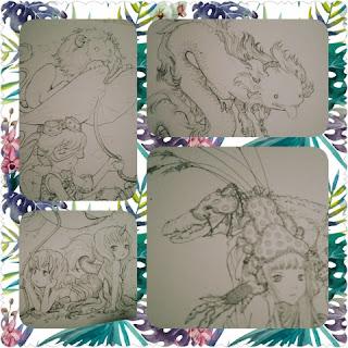 pop manga coloring bk collage 2