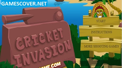 Play Cricket Invasion Game Online