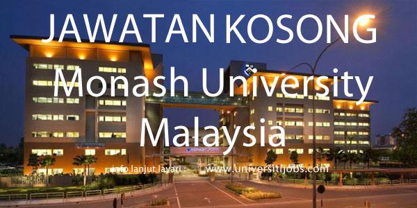Jawatan Kosong Monash University Malaysia 2016