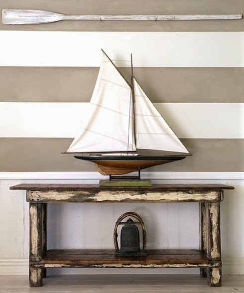 Model Home Interior Decorating: Decorative Sailboats And Nautical Design