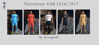 Kits Tottenham GDB 2016 - 2017 Pes 2013 By Auvergne81